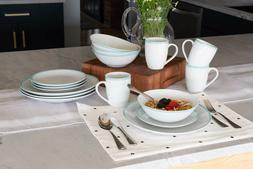 10 Strawberry Street Simply White Coupe 16-Piece Dinnerware