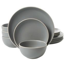 12 piece dinnerware set dishwasher safe matte