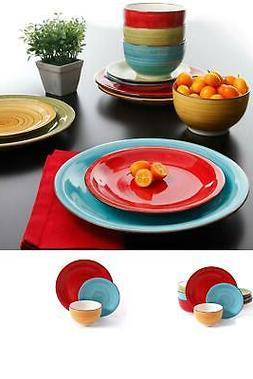 12 piece dinnerware set plates kitchen dishes