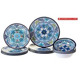 Certified International 12 Piece Talavera Melamine Dinnerwar