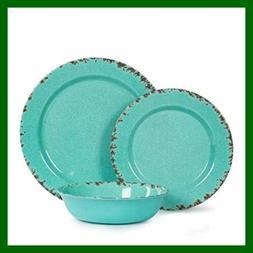 12Pcs Melamine Dinnerware Set For 4 Outdoor Use Dinner Plate