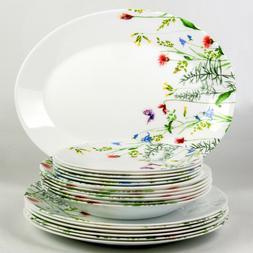 19 pc Luminarc Essence Eufloria Glass Dinnerware Service Set