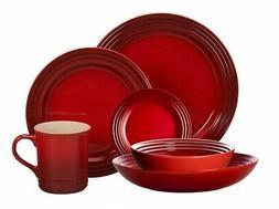 Le Creuset 24-Piece Dinnerware Set Stoneware   Cerise