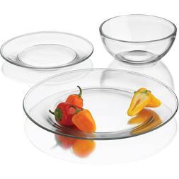 24-Piece Moderno Dinnerware Set Dinner Dessert Plates Bowls