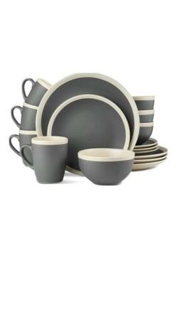 32-Piece Stoneware Dinnerware Set, Service for 8