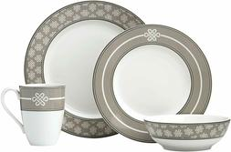 Lenox 4-Piece Neutral Party Knot Place Setting Dinnerware Se
