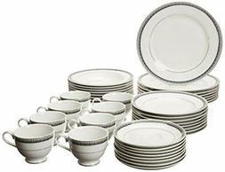 Mikasa 5224200 Platinum Crown Cobalt 40-Piece Dinnerware Set