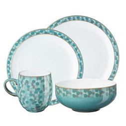 Denby Azure Shell 4-Piece Place Setting, Blue