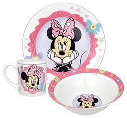 Disney Minnie Bow-Tique Dinnerware Set, 3-Piece