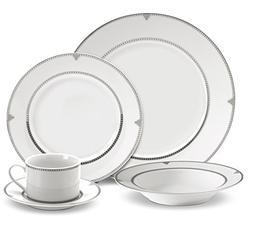Mikasa Regent Bead 40-Piece Porcelain Dinnerware Set, Servic