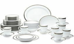 Noritake Austin Platinum 50-Piece Dinnerware Set, Service fo