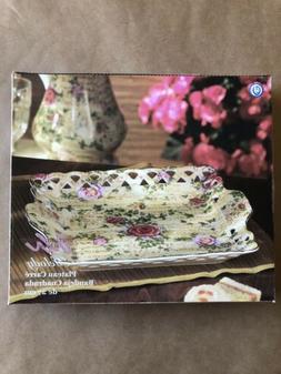 American Atelier Dinnerware Musical Rose Porcelain Set Of 2
