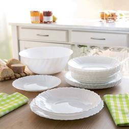 Luminarc Arcopal Feston Glass 19 pc Dinnerware Service Set M
