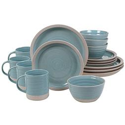 Certified International Artisan Teal  16 pc Dinnerware Set,
