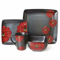 Asiana Red 16-Piece Dinnerware Set