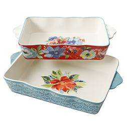 The Pioneer Woman Baking Dish Spring Bouquet 2-Piece Baker S