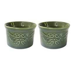 American Atelier Bargello Ramekins , Green