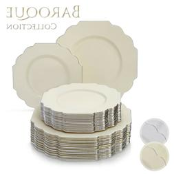 Baroque Collection Disposable Dinnerware Set for Weddings, P
