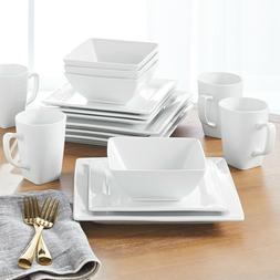 Better Homes & Gardens 16 Piece Square Porcelain Dinnerware