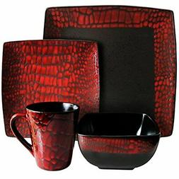 American Ateliers Boa Red 16-pc. Dinnerware Set