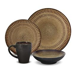 Pfaltzgraff Cambria 16-Piece Stoneware Dinnerware Set, Servi