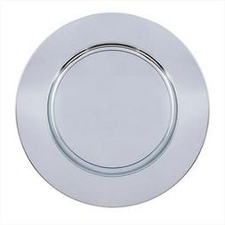 "Carlisle Charger Plate, 12.312"", Chrome | 1 Each"