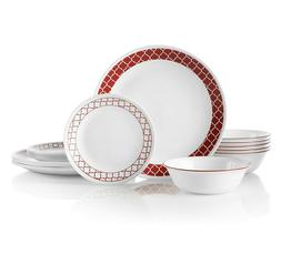 Chip Resistant Dinnerware Set Corelle Triple Layer Glass 18
