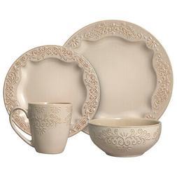 Pfaltzgraff Clarissa Cream 32 Piece Dinnerware Set