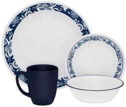 Corelle Classic True Blue 16-piece Dinnerware Set Service fo