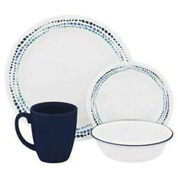 Corelle Livingware 16-Piece Dinnerware Set, Ocean Blues, Ser