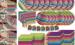 Creative Converting Serape Fiesta Dinnerware Bundle | Plates