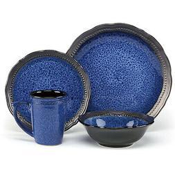 Cuisinart Stoneware Jenna Blue Collection 16-Piece Dinnerwar