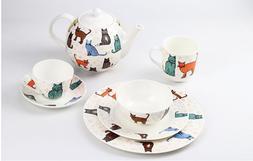 Cute Ulster Weavers Catwalk Fine Bone China Dinnerware set 7