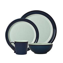 Denby Dinnerware Peveril Collection Stoneware 4-Piece Place