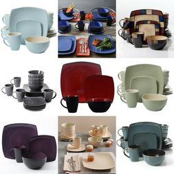 Dinnerware Set 16 Piece Dinner Ware Square Sets Kitchen Plat