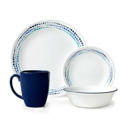 Dinnerware Set For 4 Corelle Dishes Cups Bowls 16 Piece Ocea