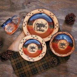 "DINNERWARE SETS - ""MOOSE MOUNTAIN"" 4-PIECE PLACE SETTING - L"