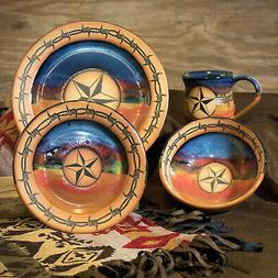 "DINNERWARE SETS - ""WESTERN STAR"" 4-PIECE PLACE SETTING - WES"