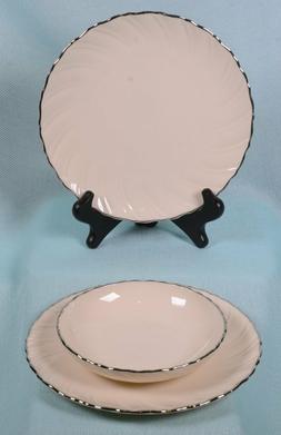 LENOX Dinnerware WEATHERLY Wavey Ivory & Silver  SALAD PLATE