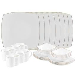 Dishwasher Safe Opal Glassware Dinnerware Set by Matashi | S