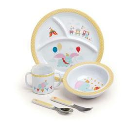 Disney Baby Dumbo 5 Piece Melamine Dinnerware Set Standard