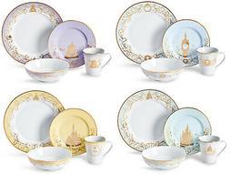 Disney Themed 16 Piece Ceramic Dinnerware Set | Plates | Bow