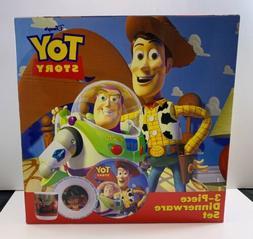 Disney Toy Story Dinnerware Set 3-Piece Zak Designs/Hasbro 1