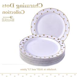 Disposable Dinnerware Set, 20 Plates for Wedding and Party