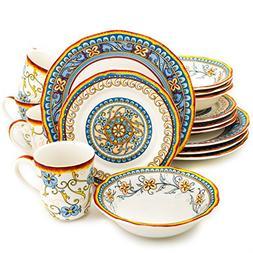 Euro Ceramica Duomo Collection Italian-Inspired 16 Piece Cer