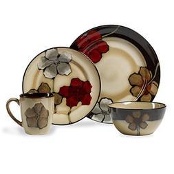 Pfaltzgraff Everyday Painted Poppies 16 Piece Dinnerware Set