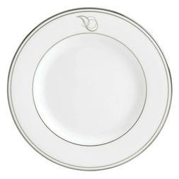 Lenox Federal Platinum Script Monogram Dinnerware Salad Plat