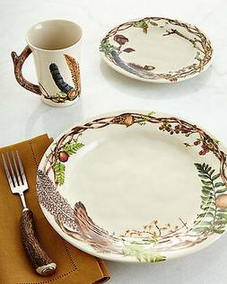 Juliska Forest Walk Dinner Plate, Party Plate, and Mug - Set