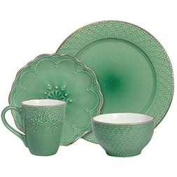 Pfaltzgraff French Lace Green Dinnerware Set