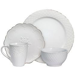 Pfaltzgraff French Lace White 32 Piece Dinnerware Set